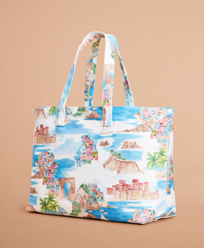 KABELKA BROOKS BROTHERS RF PRINTED TOTE BAG COSTALMULTI