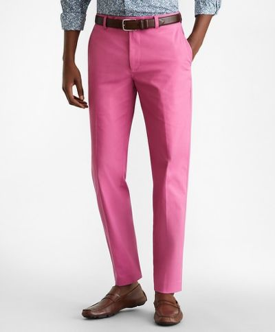 NOHAVICE BROOKS BROTHERS CBT SUPIMA POPLIN PANT MILANO RED VIOLET