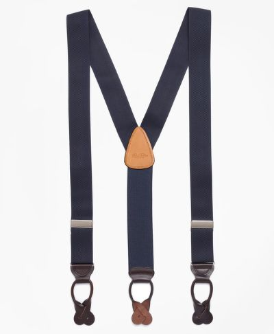 TRAKY BROOKS BROTHERS SOLID SUSPENDERS