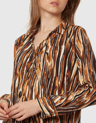 KOŠILE LA MARTINA WOMAN PRINTED TWILL SHIRT