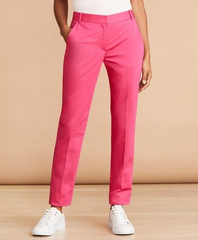 NOHAVICE BROOKS BROTHERS PNT CTNBLND SOLID PINK YARROW