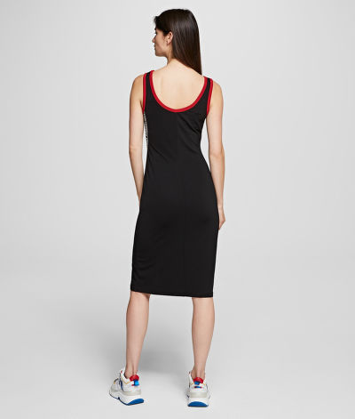 ŠATY KARL LAGERFELD JERSEY SNAPS DETAIL DRESS