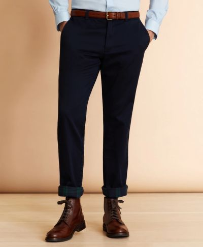 NOHAVICE BROOKS BROTHERS FLANNEL-LINED CHINOS
