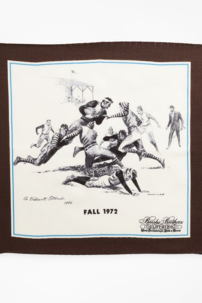 KAPESNÍK BROOKS BROTHERS LIMITED EDITION ARCHIVAL COLLECTION FALL 1972 CASHMERE-SILK POCKET SQUARE