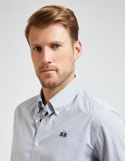 KOŠILE LA MARTINA MAN ALL OVER POPLIN SHIRT