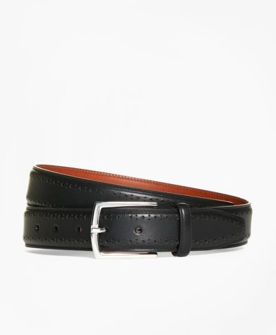 OPASOK BROOKS BROTHERS LEATHER PERFORATED BELT