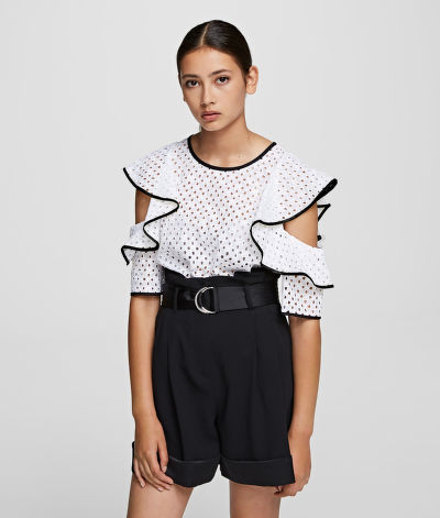 TOP KARL LAGERFELD KARL BRODERIE ANGLAIS TOP