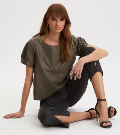 TOP ODD MOLLY THE ONE LEATHER T-SHIRT