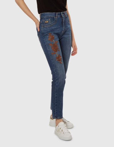 DŽÍNY LA MARTINA WOMAN 5PKT DENIM BLUE DENIM ST