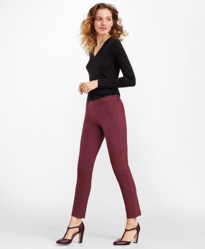 NOHAVICE BROOKS BROTHERS STRETCH-COTTON TWILL ANKLE PANTS