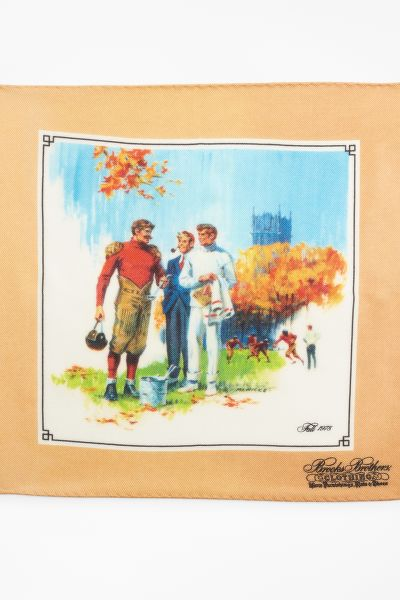 KAPESNÍK BROOKS BROTHERS LIMITED EDITION ARCHIVAL COLLECTION FALL 1978 CASHMERE-SILK POCKET SQUARE