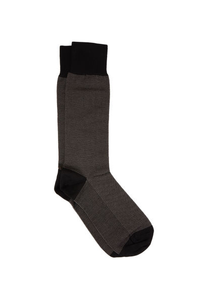PONOŽKY BROOKS BROTHERS COTTON BIRD'S EYE CREW SOCKS