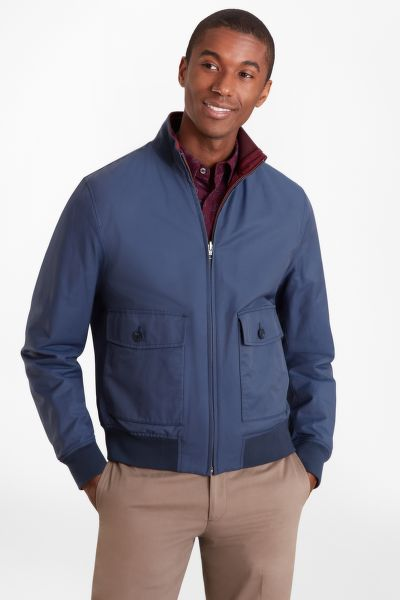 BUNDA BROOKS BROTHERS REVERSIBLE BOMBER JACKET