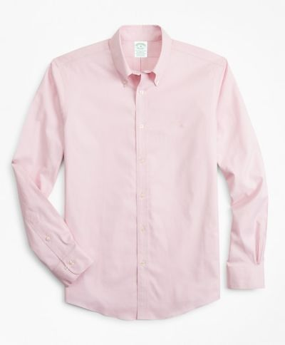 KOŠEĽA BROOKS BROTHERS SPT ML NI STRETCH PINPOINT SOLID MILANO PINK