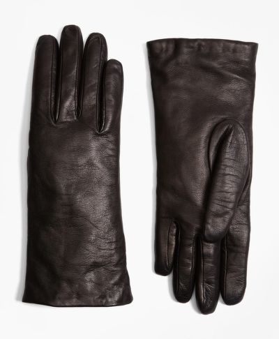 RUKAVICE BROOKS BROTHERS CASHMERE LINED LEATHER GLOVES