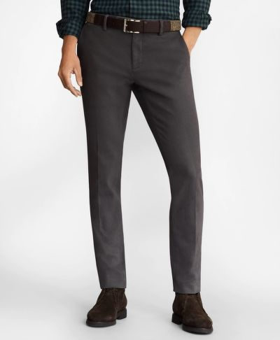 NOHAVICE BROOKS BROTHERS SOHO FIT BRUSHED TWILL STRETCH CHINOS