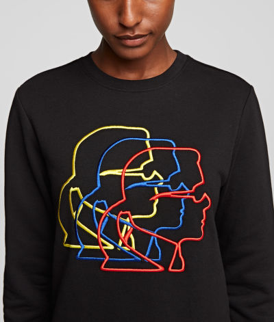 MIKINA KARL LAGERFELD MULTICOLOR 3D PROFILE SWEAT