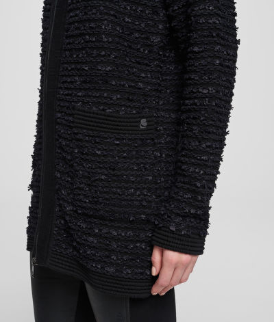 SVETR KARL LAGERFELD LONG BOUCLE CARDIGAN