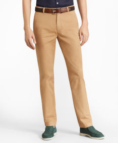 NOHAVICE BROOKS BROTHERS CBT ML SUPIMA GMT DYE PANT MILANO KHAKI