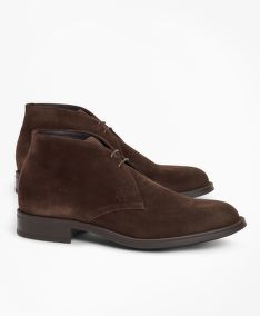 POLTOPÁNKY BROOKS BROTHERS 1818 FOOTWEAR SUEDE CHUKKA BOOTS