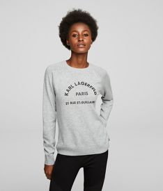 SVETER KARL LAGERFELD ADDRESS LOGO SWEATER