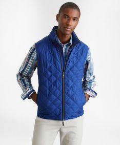 VESTA BROOKS BROTHERS OUT DIAMOND QUILTED VEST BLDEPTHS