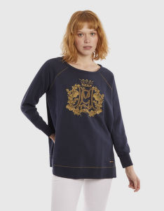 MIKINA LA MARTINA WOMAN COTTON FLEECE