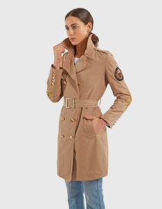 KABÁT LA MARTINA WOMAN TAFFETA' TRENCH