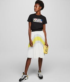 SUKŇA KARL LAGERFELD COLOURBLOCK PLEATED SKIRT