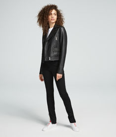 BUNDA KARL LAGERFELD IKONIK LEATHER BIKER JACKET