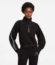 MIKINA KARL LAGERFELD DOUBLE JERSEY CROPPED SWEAT