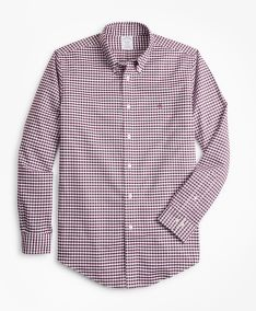 KOŠEĽA BROOKS BROTHERS NON-IRON REGENT FIT HEATHERED GINGHAM SPORT SHIRT