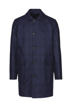 KABÁT BROOKS BROTHERS D OTW REV TRENCH NAVY AND NAVY CHECK