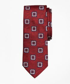 KRAVATA BROOKS BROTHERS TIE PAISLEY MEDALLION RED PAISLEY MEDALLION