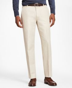 NOHAVICE BROOKS BROTHERS CBT COTTON/LINEN PANT MILANO OATMEAL