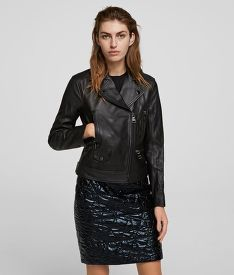 BUNDA KARL LAGERFELD IKONIK RS LEATHER BIKER JACKET
