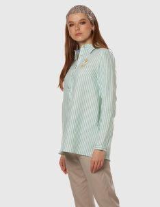 KOŠEĽA LA MARTINA WOMAN STRIPED LINEN SHIRT