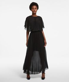 ŠATY KARL LAGERFELD PLEATED MAXI DRESS