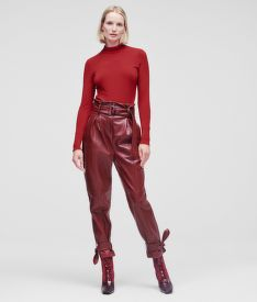 NOHAVICE KARL LAGERFELD FAUX LEATHER PANTS