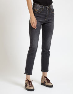 DŽÍNSY LA MARTINA WOMAN DENIM TROUSER BLACK DENI