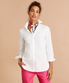 KOŠEĽA BROOKS BROTHERS BLS CTN TUNIC BRIGHT WHITE