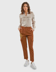 NOHAVICE LA MARTINA WOMAN VISCOSE TWILL CARGO PANT