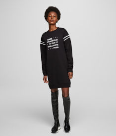 MIKINA KARL LAGERFELD STACKD LOGO ADDRESS SWEATDRESS