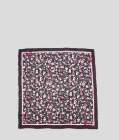 ŠATKA KARL LAGERFELD ALL OVER ORCHID SQUARE SCARF