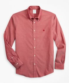 KOŠEĽA BROOKS BROTHERS SPT ML NI STRETCH PINPOINT SOLID MILANO RED
