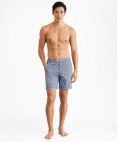 PLAVKY BROOKS BROTHERS CBT ML PRINTED SWIM NEWPORT 7 VIOLAFLORAL