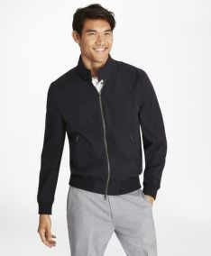 BUNDA BROOKS BROTHERS OUT ULTRALIGHT STRETCH BOMBER BROOKSNAVY