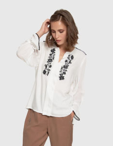 BLÚZKA LA MARTINA WOMAN SHIRT L/S TWILL VISCOSA