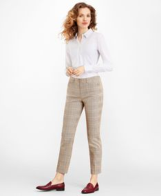 NOHAVICE BROOKS BROTHERS SLIM-FIT GLEN PLAID TWILL PANTS