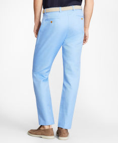 NOHAVICE BROOKS BROTHERS CBT COTTON/LINEN PANT MILANO CORNFLOWER BLUE